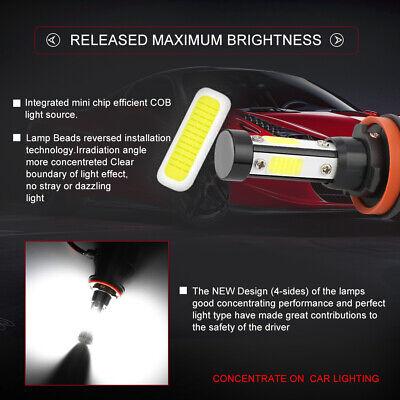4-Side H11 LED Headlight H8 H9 Kits 2800W 380000LM Bulbs Power 6000K White Best 4