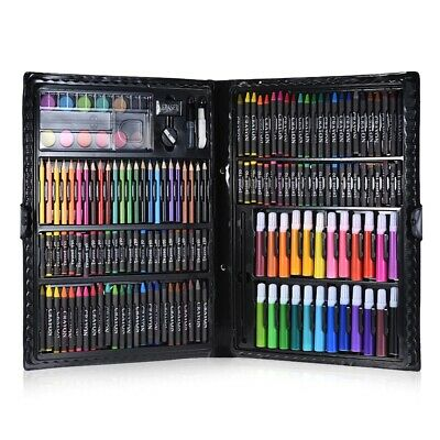NEW 168pc Art Set with Crayons Pastels Markers Pencils Paint Felt Tips with Case 8