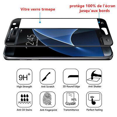 Vitre Protection VERRE Trempé Incurvé Film Ecran Samsung Galaxy S7 S8 Plus S9 3D 3