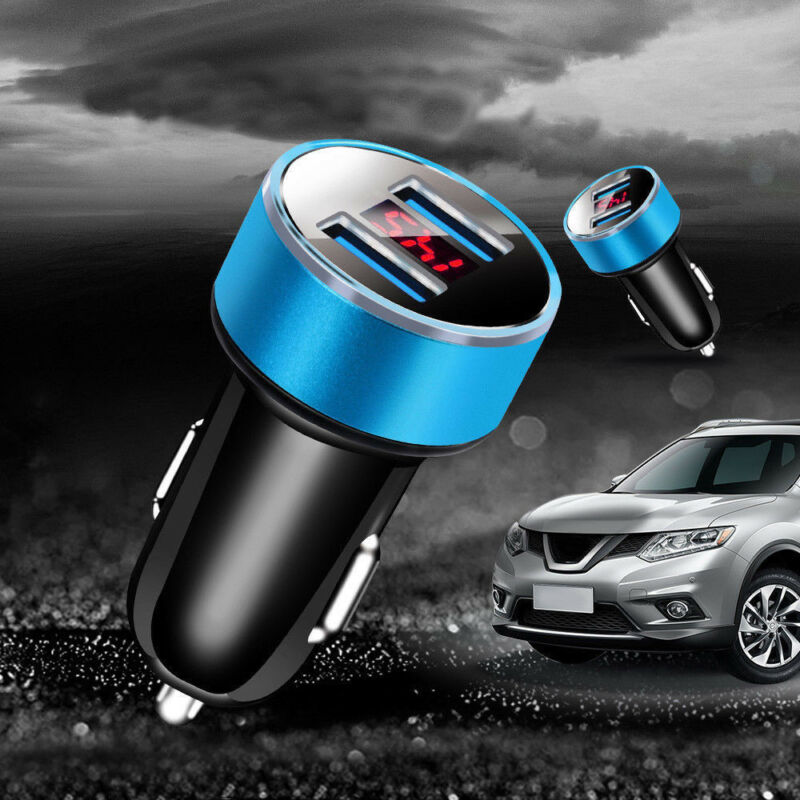 1PC Dual Ports 3.1A USB Car Auto Cigarette Charger Lighter Digital LED Voltmeter 12
