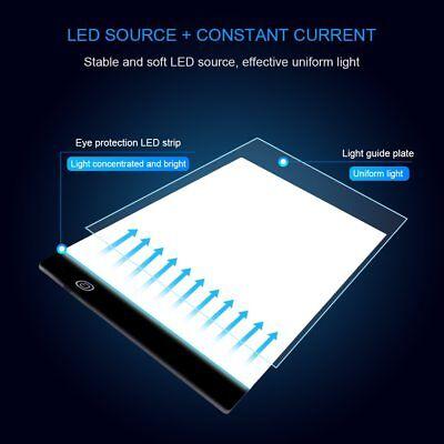 Tableta Gráfica Electrónica A4 De Dibujo De Arte Digital USB Luz LED 3 Niveles 7
