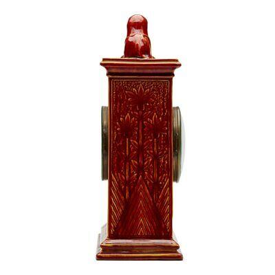 Burmantofts Faience Mantel Clock With Sphinx 5