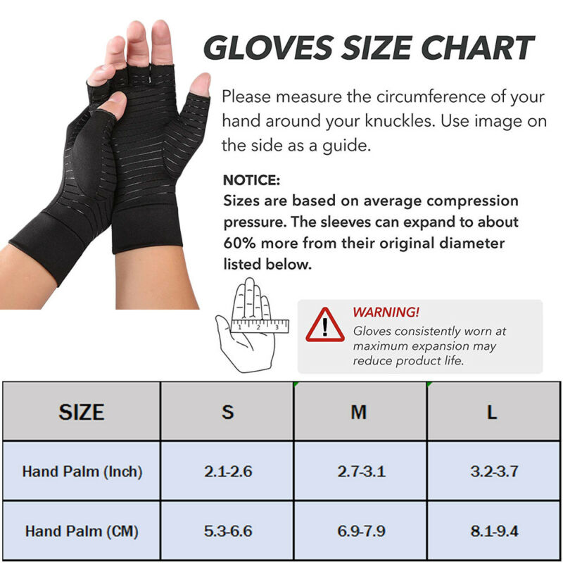 Carpal Tunnel Pain Relief Arthritis Gloves Compression Support Hand Wrist Brace 2