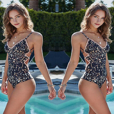 Women One Piece Monokini Swimsuit Swimwear Beachwear Push Up Bathing Suit Bikini