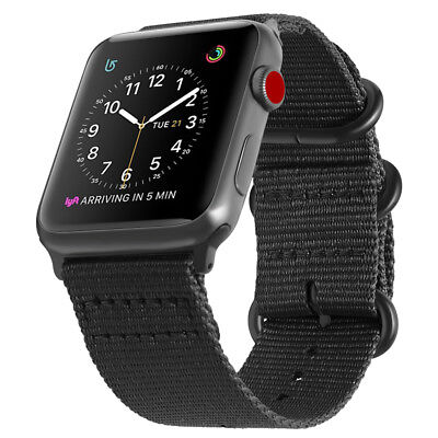 For iWatch Apple Watch Series 3 2 1 42mm Nylon Woven Band Strap Replacement 6