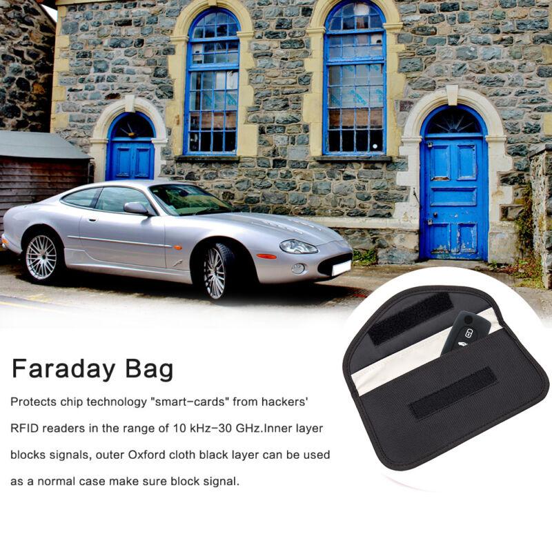 Large Faraday Bag Car Key Keyless Entry Fob Signal Guard Blocker Key Pouch RFID 2