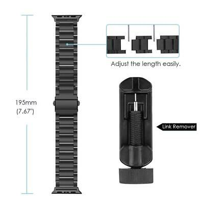 For iWatch Apple Watch Series 5/4 44mm Stainless Steel Band Strap Bracelet 11