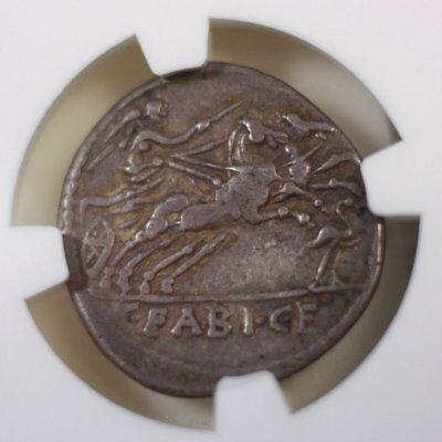 Roman Republic C.Fabius C.f.Hadrianus NGC Ch VF ***Rev Tye's Stache*** #3237275 4