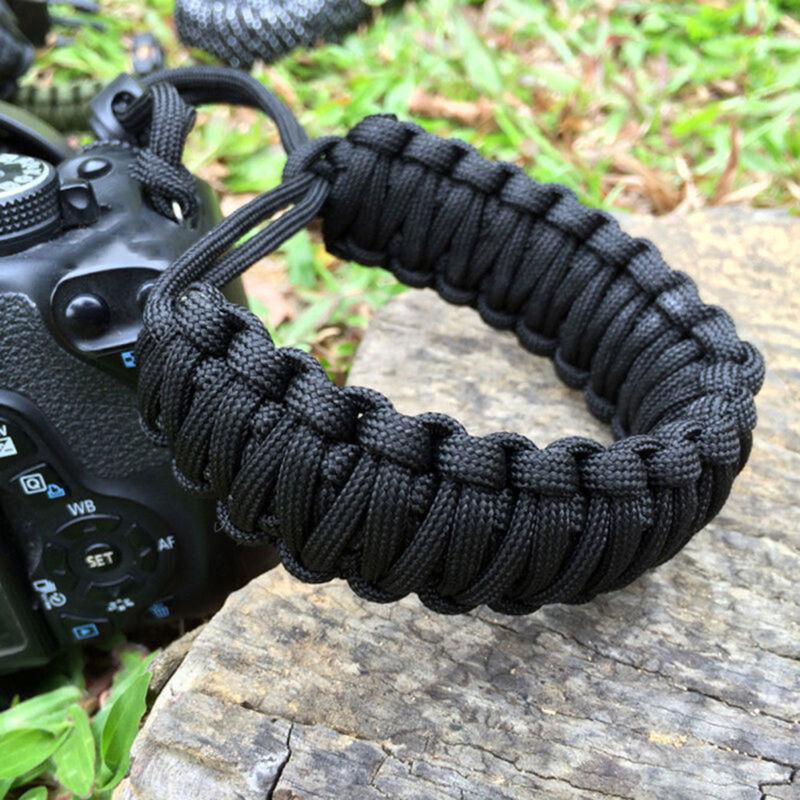 Adjustable Camera Wrist Strap Braided Paracord Strong Weave Lanyard DSLR Black 5