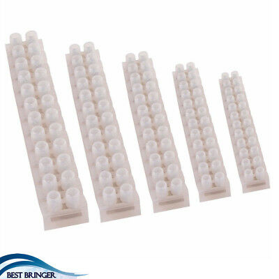 12 WAY CONNECTOR STRIP 3-60 AMP ELECTRICAL CHOC Block Terminal Wire Electric
