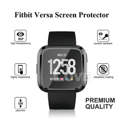 Soft TPU Silicone Shell Frame Full Case Cover Screen Protector for Fitbit Versa 8