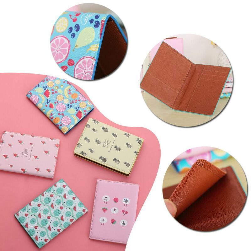 Fruit Travel Passport Cover ID Card Holder Case Pouch Protector Organizer Wallet 3