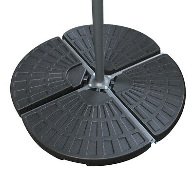 Cantilever Parasol Base Weights 4 Piece Banana Umbrella Stand Holder Fan Shaped 3