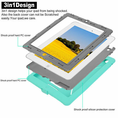 Shock Proof Protective Case Cover Stand For Apple iPad 4 3 2 Mini Air Heavy Duty 6