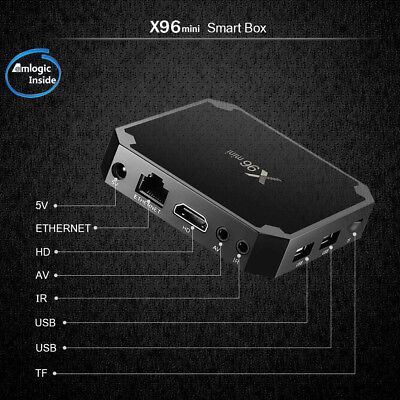 DQiDianZ X96mini  Android 7.1 Smart TV BOX  Quad Core 2.4G  Lecteur Multimédia