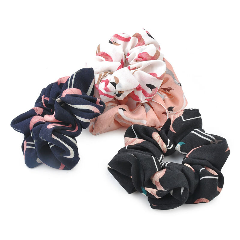 Women Bow Knot Hair Rope Ring Tie Scrunchie Ponytail Holder Accessory Adjustable 6