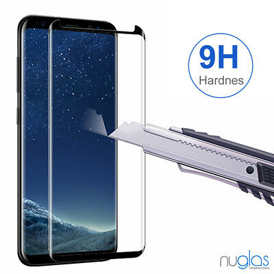 Samsung Galaxy S9 S8 Plus Note 9 8 NUGLAS Tempered Glass Full Screen Protector 4