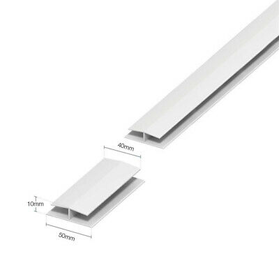 White PVC Plastic Jointing Trim 5 Pack Soffit Joint // H Trim 1m Lengths 9mm Board Joint