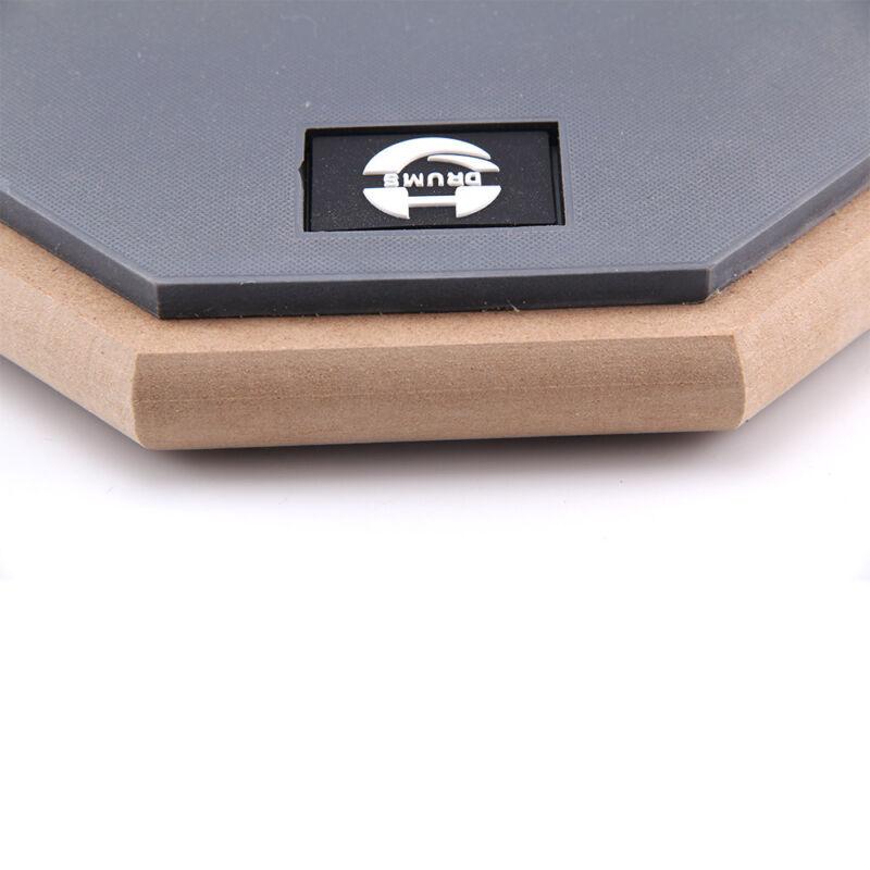 "8"" Soft Black Dumb Drum Pad Exercise Mat Blow Plate Drummers Rubber Double Sides 6"