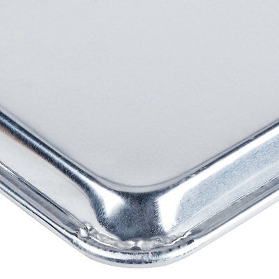"(12-Pack) 18"" x 26"" Full Size Aluminum Baking Bun Pan / Sheet Pan - Wire in Rim"