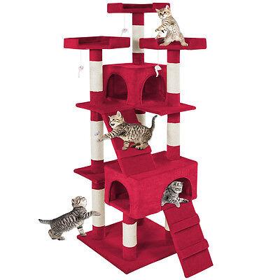 De Luxe Arbre à chat griffoir grattoir geant  bordeaux 2