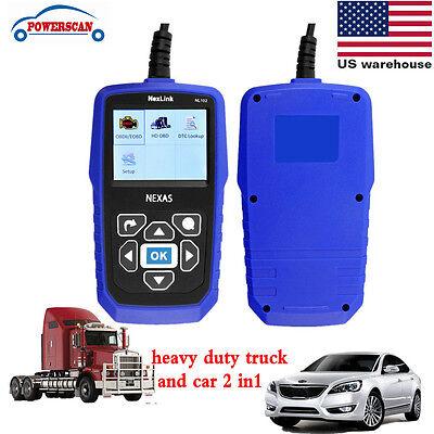 Nexas Nl102 Heavy Duty Truck & Car Obd2 Diagnostic Hd Code Reader Diesel Scanner 2