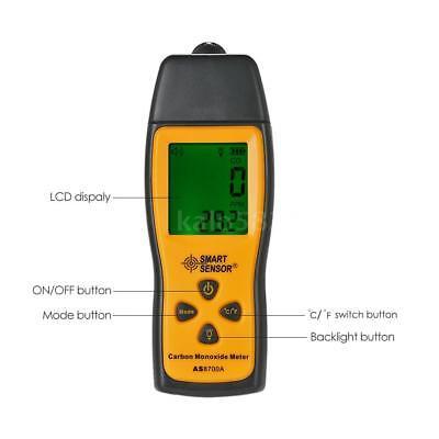 SMART SENSOR Handheld LCD Carbon Monoxide Meter CO Tester Monitor Detector Gauge 6