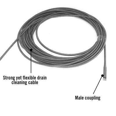RIDGID Drain Cleaning Cable Cleaner C-6 3/8 In x 35 ft Male Coupling Replacement 3