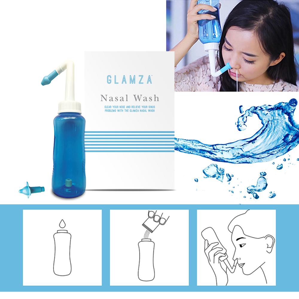 Nasal Pression Sinus Soulagement D'Allergie Pot Neti Nez Lavage Nettoyant