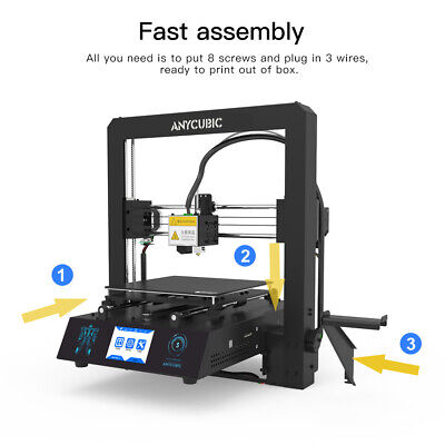 CA Anycubic 3D Printer i3 Mega-S All Metal Frame Colorful TFT Screen PLA ABS TPU 6