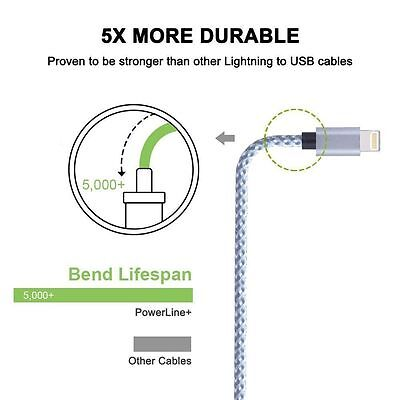 Certified Lightning Cable 3 6 10 FT MFi USB Charger for iPhone XS Max 7 6s Plus 6