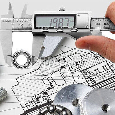 150/200/300mm Electronic Digital Vernier Caliper Stainless LCD Gauge with Case 12