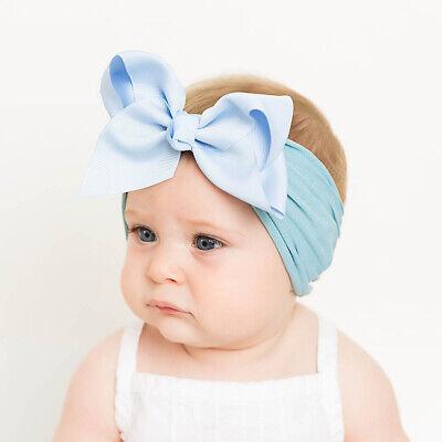 Girls Kids Baby Soft Bow Hairband Headband Sweet Turban Knot Head Wrap Cute Bow 3