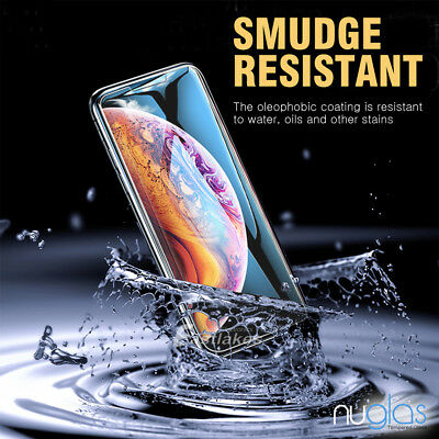 2x Apple iPhone X XS Max XR GENUINE NUGLAS Tempered Glass Screen Protector Film 4