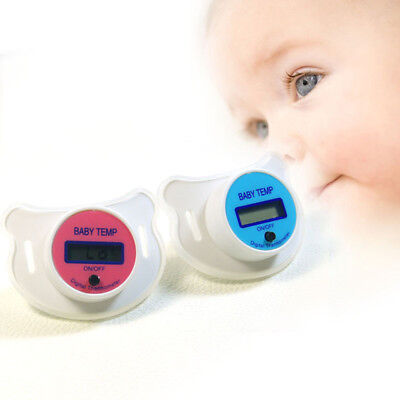 Baby MouthThermometer Pacifier Nipple Temperature LCD Digital Thermometer Safety 5
