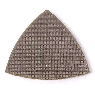 200 Grit Electroplated Diamond Triangular Polishing Pad For Oscillating Tools