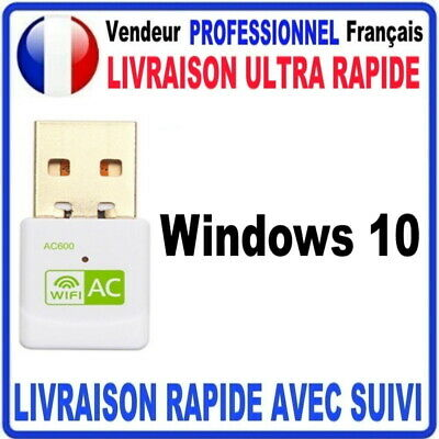 CLE USB WIFI ADAPTATEUR 600 Mbps DONGLE USB DOUBLE BANDE 7