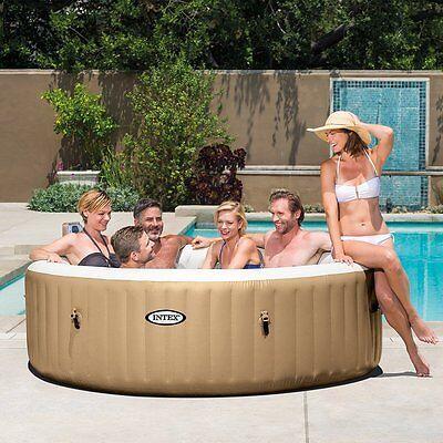 intex inflatable pure spa 6 person portable heated bubble jet hot tub 28407e picclick. Black Bedroom Furniture Sets. Home Design Ideas