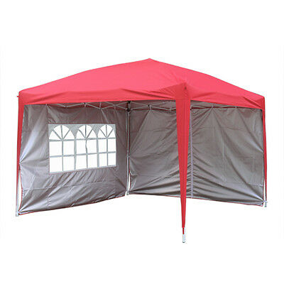 3x3m Pop Up Gazebo Marquee Outdoor Garden Party Tent Canopy 4 Side Panels New 2