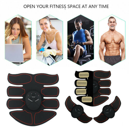 Ultimate EMS AB & Arms Muscle Simulator ABS Training Home Abdominal Trainer Set# 8