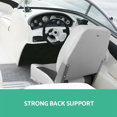 Seamanship Set of 2 Folding Swivel Boat Seats - Grey Warranty Fast & Free Post 6