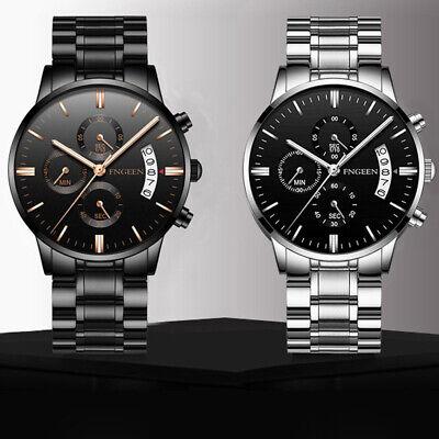 Luxury Mens Watches Quartz Stainless Steel Analog Sports New Wrist Watch #UK 7