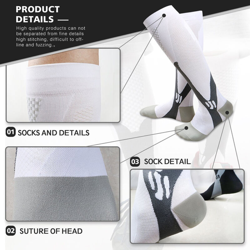 Medical Compression Socks Anti Fatigue Unisex Travel DVT Comfort Thigh Stockings 4