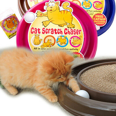 PetzTrendz® Cat Scratch Chaser FREE Cat-Nip - 3 Colours & Refills Available 4
