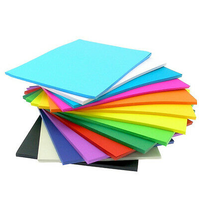 100 x Colored Card Cardboard Paper A3 A4 A2 DIY Craft Handicraft- Premium Qlty