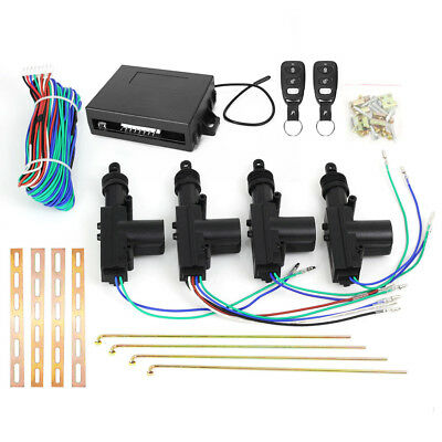 Car Remote Central Locking Kit 4 Door Lock Security Control System Entry Keyless 11