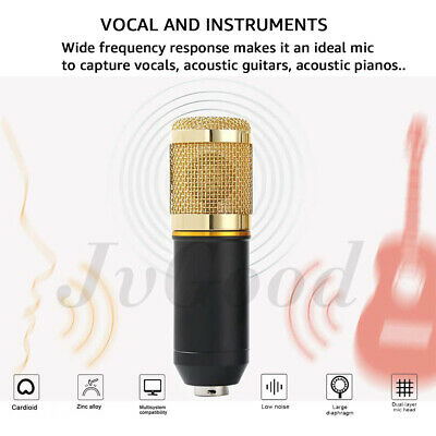 Professional Studio Condenser Microphone Kit Recording Broadcasting Shock Mount 5