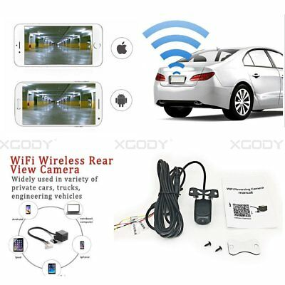 150°WiFi Wireless Car Rear View Cam Backup Reverse Camera For iPhone Android ios 8