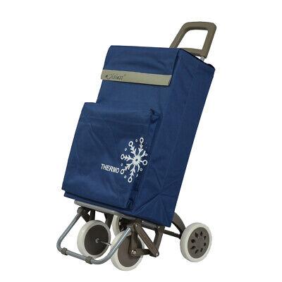 Carro de Compra 4 Ruedas 2 Bolsillos uno para congelados azul marino envios 24 h 2