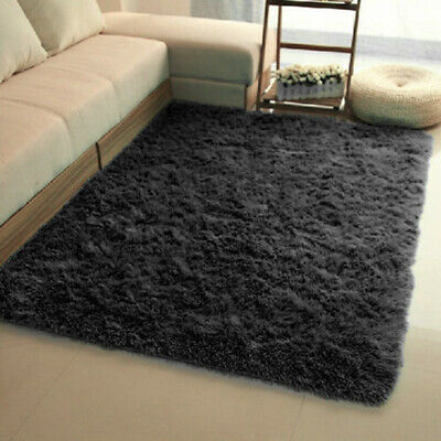 Fluffy Rugs Anti-Skid Shaggy Area Rug Dining Room Carpet Floor Mat Home Bedroom 4